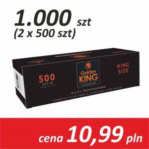 Gilzy papierosowe 2 x 500 sztuk