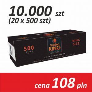 Gilzy papierosowe 20 x 500 sztuk