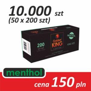 Gilzy papierosowe 50 x 200 sztuk (MENTHOL)